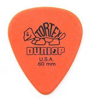 Jim Dunlop Tortex Standard Pick 0,60 mm Orange Plektrum für Gitarre