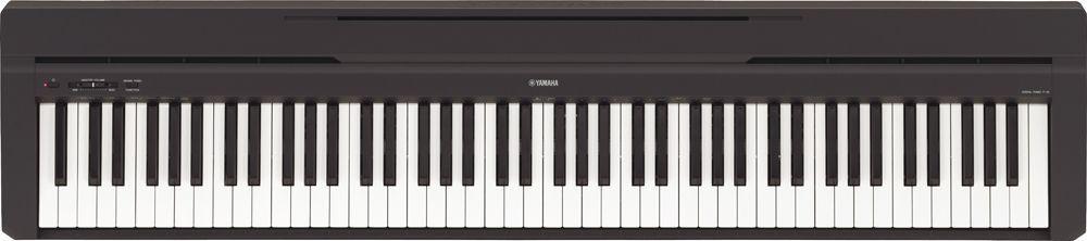 Yamaha P-45-B Stagepiano schwarz, transportables Digitalpiano mit Lautsprechern
