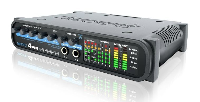 MOTU 4 PRE Hybrid Firewire / USB Audiointerface