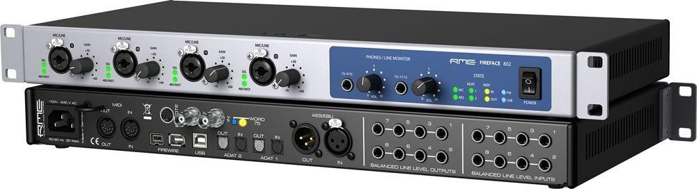 "RME Fireface 802 19"" 1 HE USB und Firewire Audiointerface"
