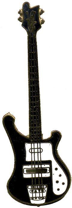 Anstecker E-Bass Rickenbacker FP-Schmuck #575 Musikergeschenke Musikerschmuck
