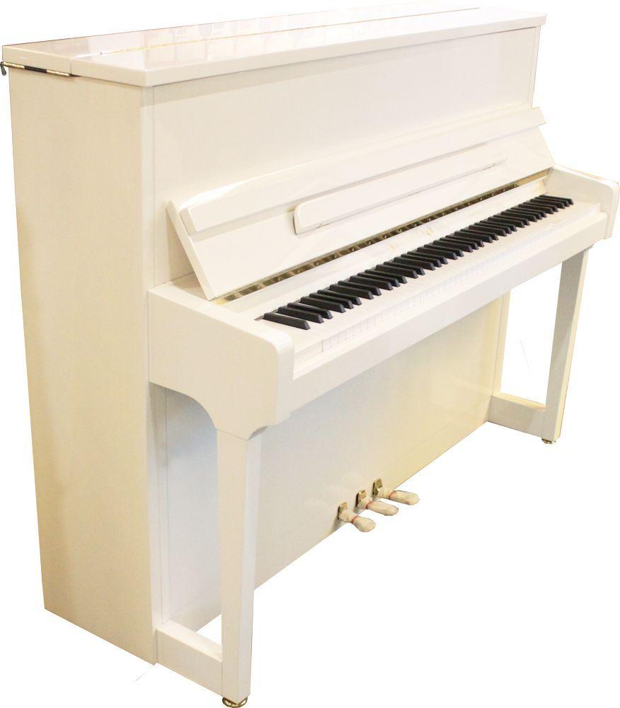 Wilhelm Schimmel Klavier W-118 Tradition  weiß poliert