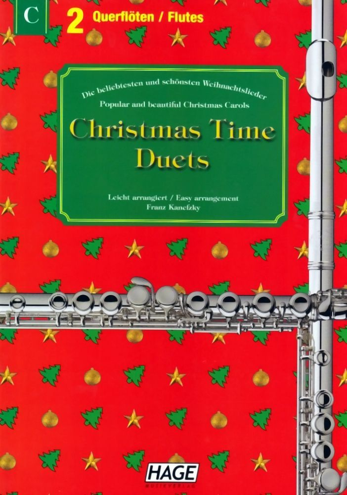 Noten Christmas Time Duets Querflöte Ed Hage eh 1091 Duett für 2 Querflöten