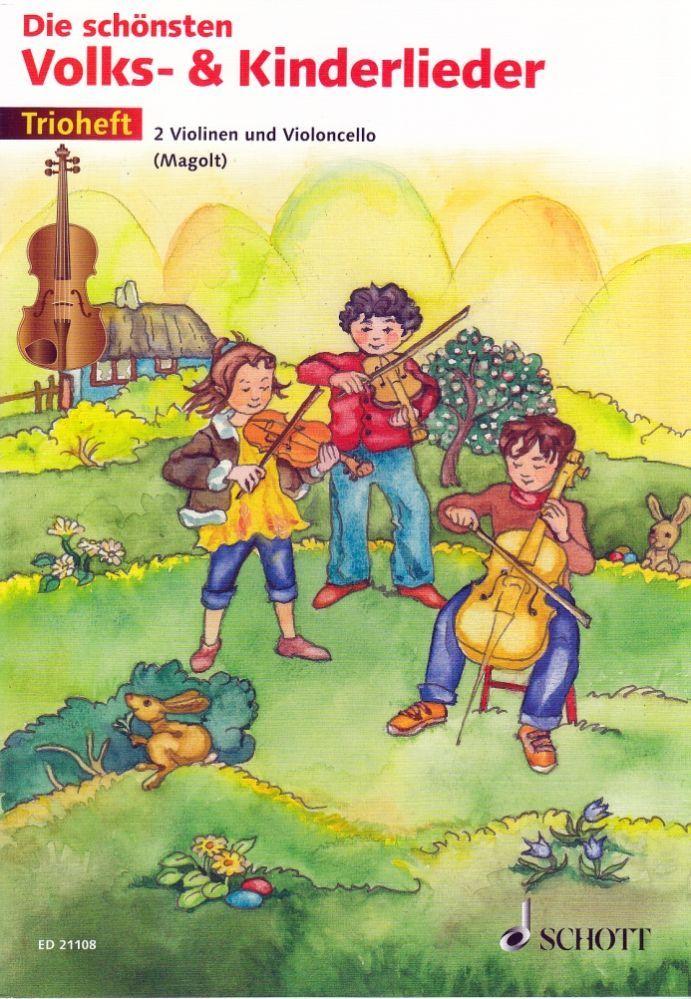 Noten Die schönsten Volks- & Kinderlieder 2 Violinen 1 Cello ED 21108 Trioheft