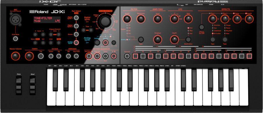 Roland JD-Xi Synthesizer mit analoger und digitaler Klangerzeugung,