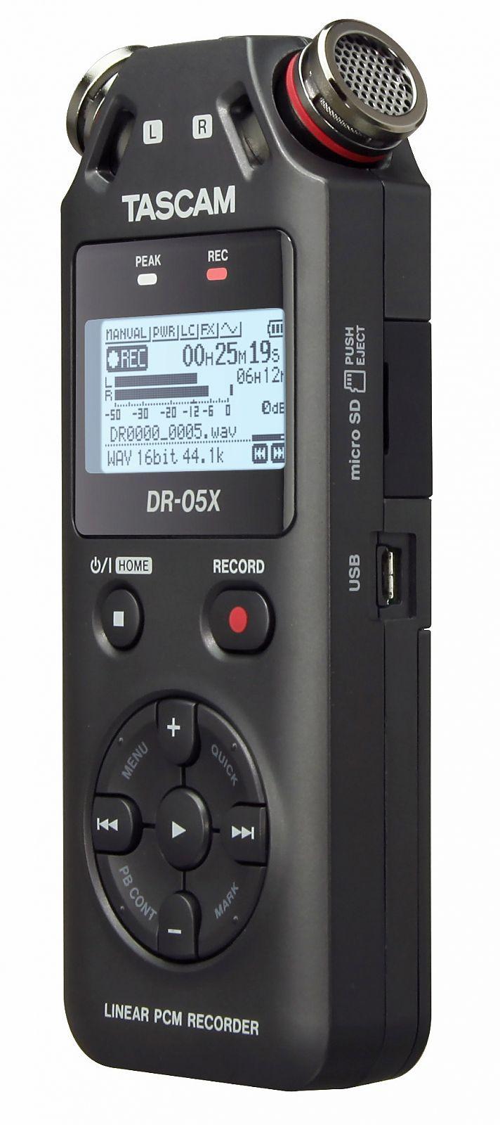 Tascam DR-05X  tragbarer Digitalrecorder und USB-Audiointerface
