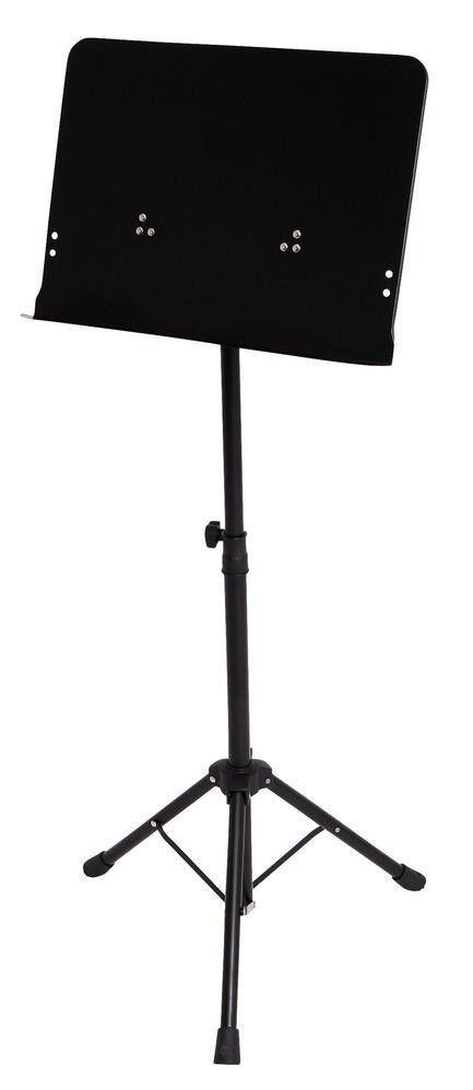 Markstein OrchesterNotenpult Metall MBL-2 Vollblech-Notenauflage, 67-120cm Höhe