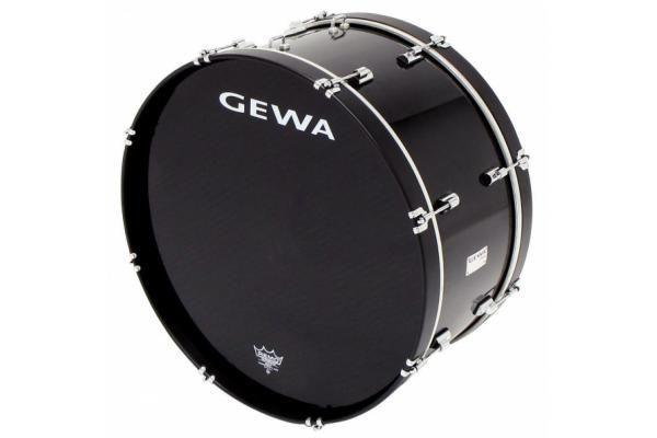Gewa Marching Bass Drum 22 x 10 black Marschpauke Pappelholz Folie Remo Felle