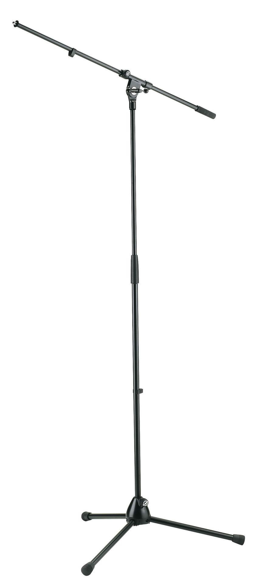 K&M 210/2 Mikrofonstativ mit Schwenkarm, schwarz