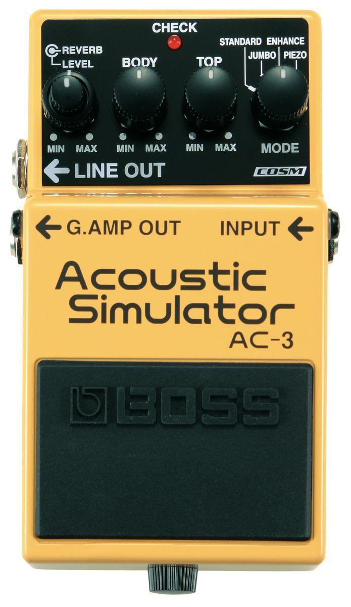 Boss AC-3 Acoustic Simulator, Effektgerät für E-Gitarre