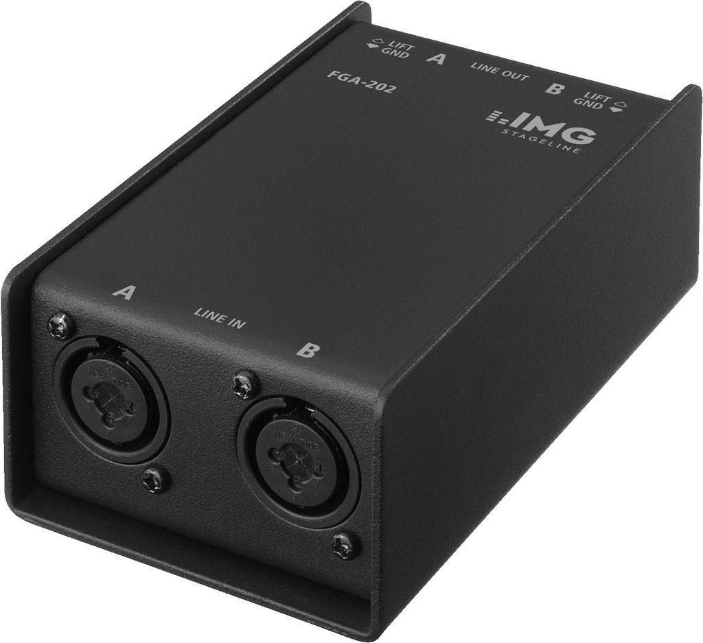 IMG Stage Line FGA-202 Professioneller Stereo-Line-Übertrager mit XLR