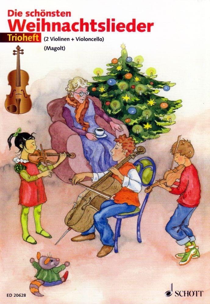 Noten Die schönsten Weihnachtslieder 2 Violinen 1 Cello ED 20628 Schott Trioheft