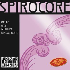 Thomastik Spirocore Cello 4/4 Satz S31 mittel (S-25,S-27,S-28,S-29)
