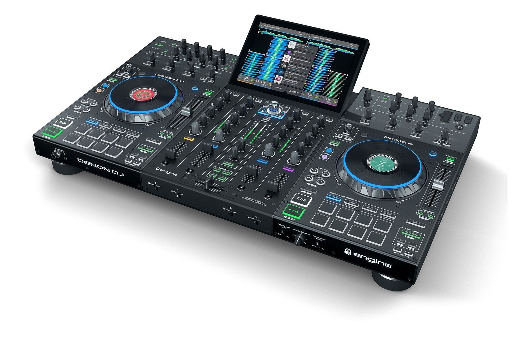Denon DJ Prime 4  4-Deck Standalone DJ System mit 10 Touchscreen