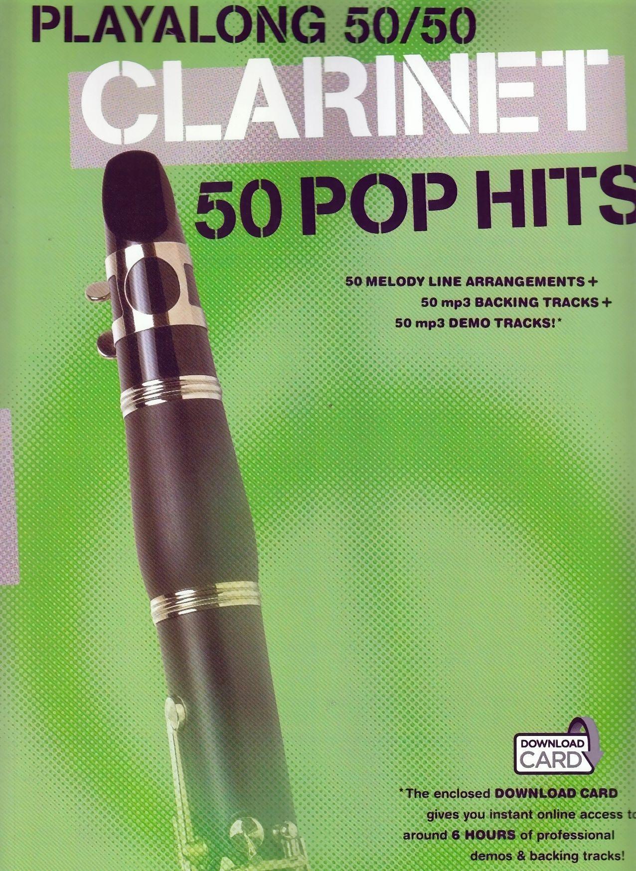 Noten Klarinette Clarinet 50 Pop hits playalong incl. downloadcard MSAM 1006478