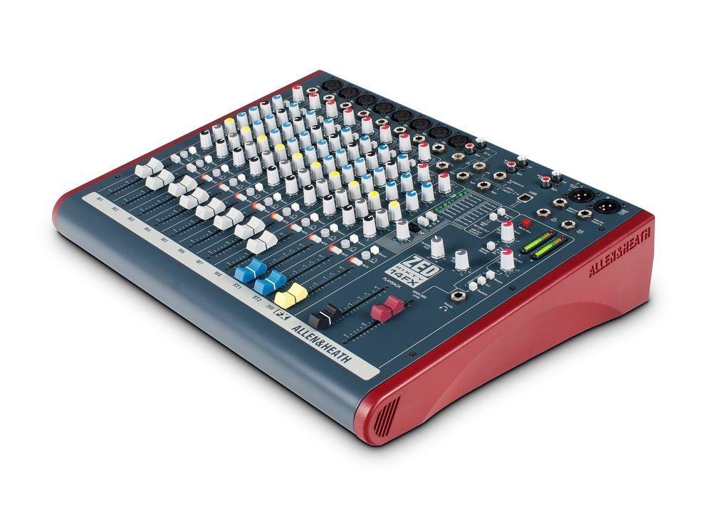 Allen&Heath ZED60-14FX Mixer, 8 Inputs + 2 StereoIN, USB Send/Return, Effekte