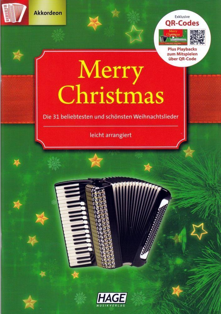 Noten Merry Christmas Akkordeon Die 31 schönsten Weihnachtslieder Hage EH 2084