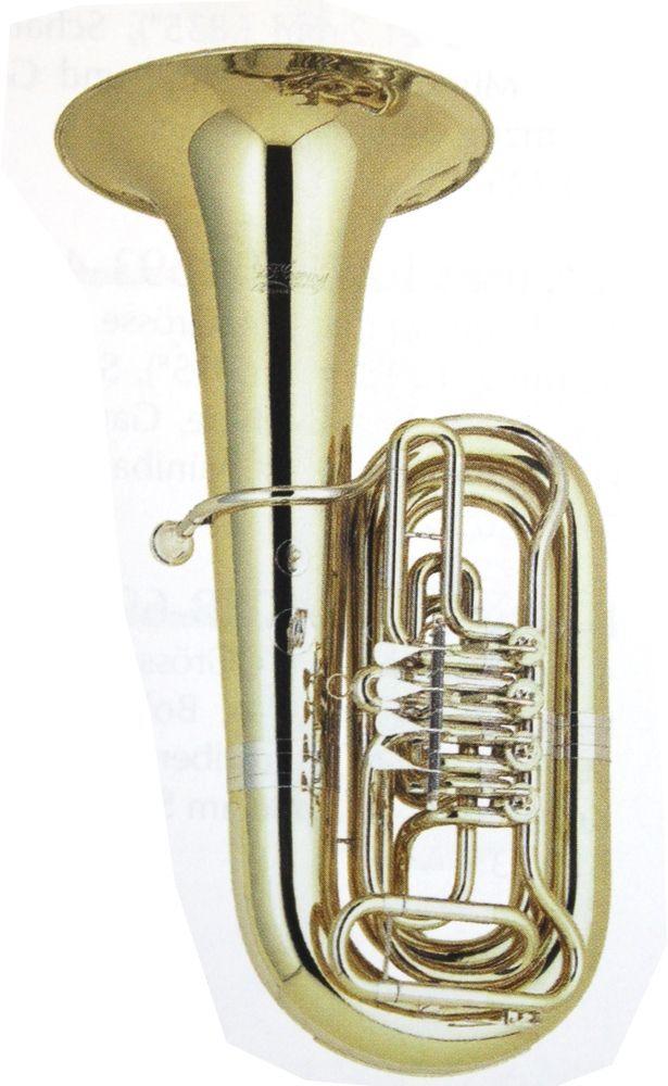 Cerveny CVBB686-4B , B-Tuba, Messing, 4 Ventile, Etui +  Zubehör