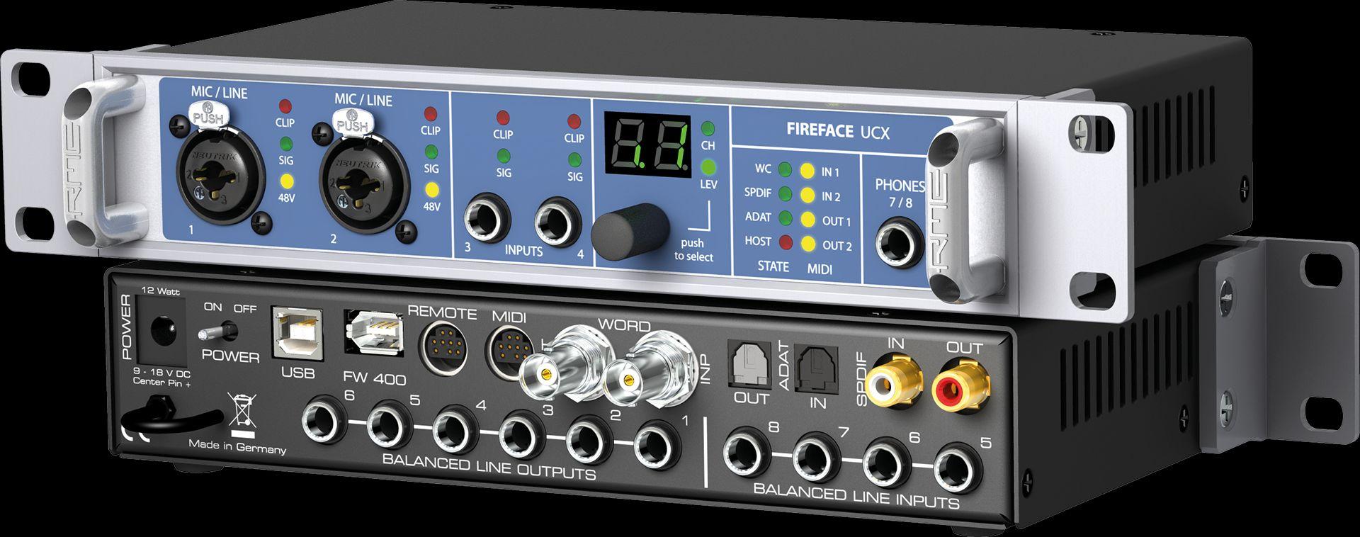 RME Fireface UCX 36-Kanal, 24-Bit/192 kHz Hight End USB Firewire Audiointerface