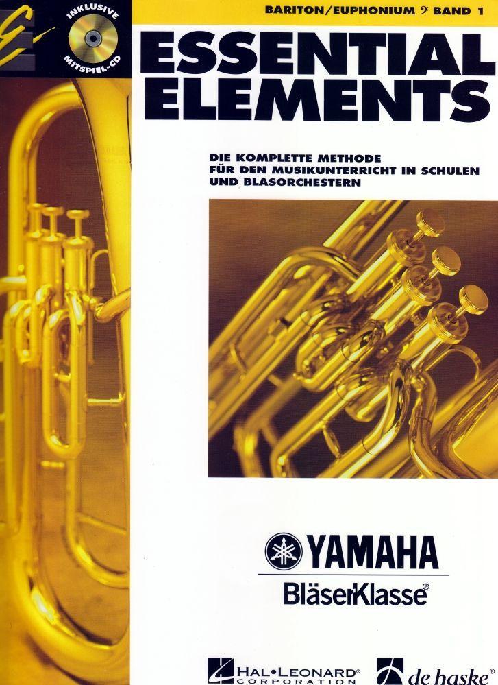 Noten ESSENTIAL ELEMENTS 1 Bariton Euphonium incl. CD Bassschlüssel HASKE -DHE05