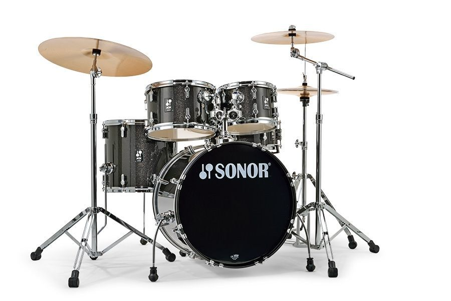 Sonor AQX Studio Schlagzeug Black Midnight Sparkle  20/10/12/14 Snare