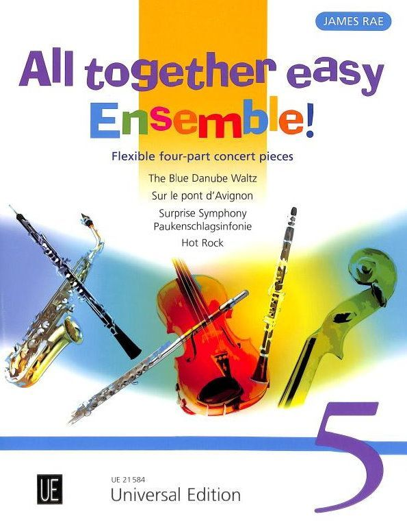 Noten All together easy Ensemble 5 für variable Besetzung James Rae UE 21584