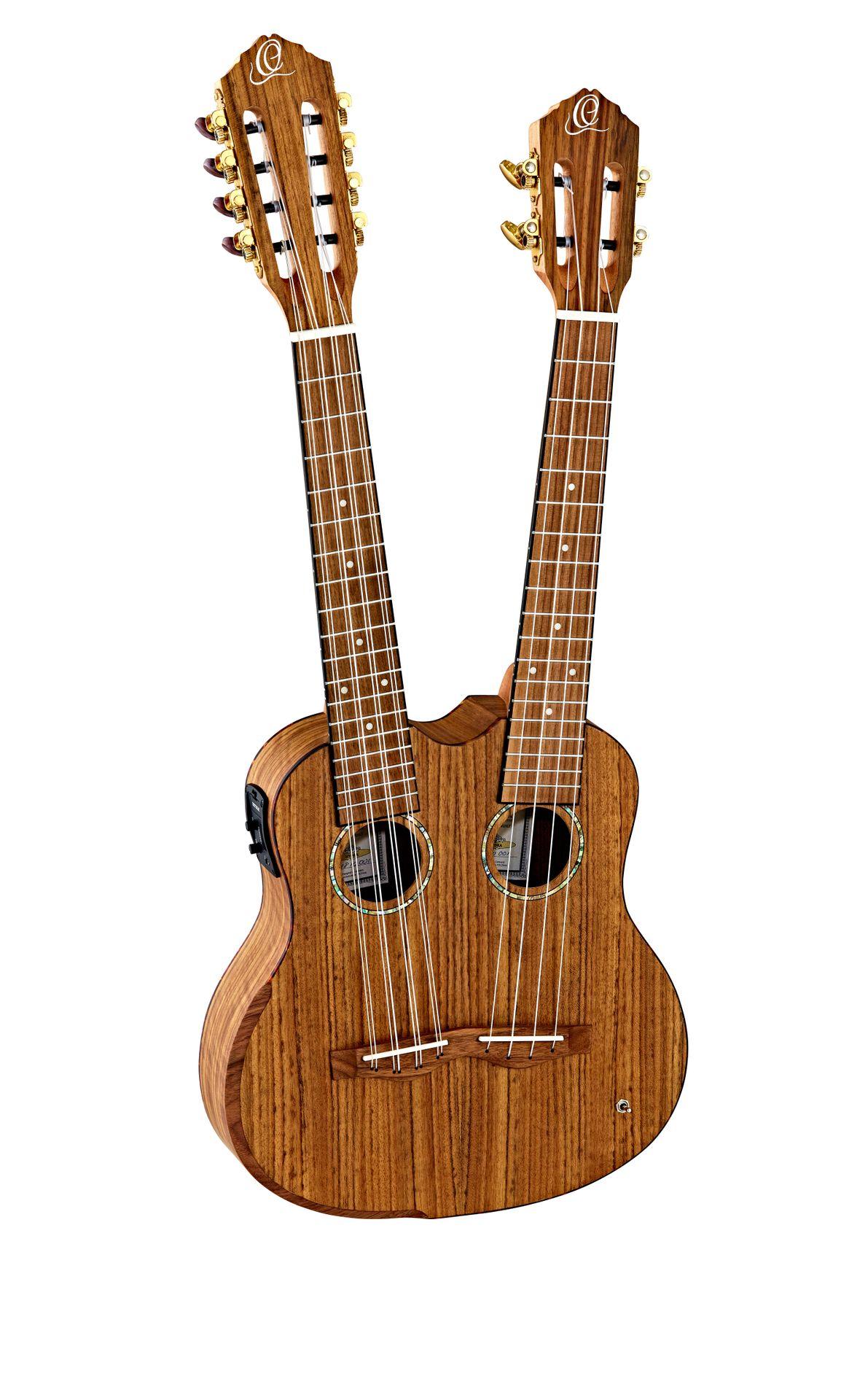 Ortega HYDRA Double Neck Tenor Ukulele 4/8 String incl. Gigbag
