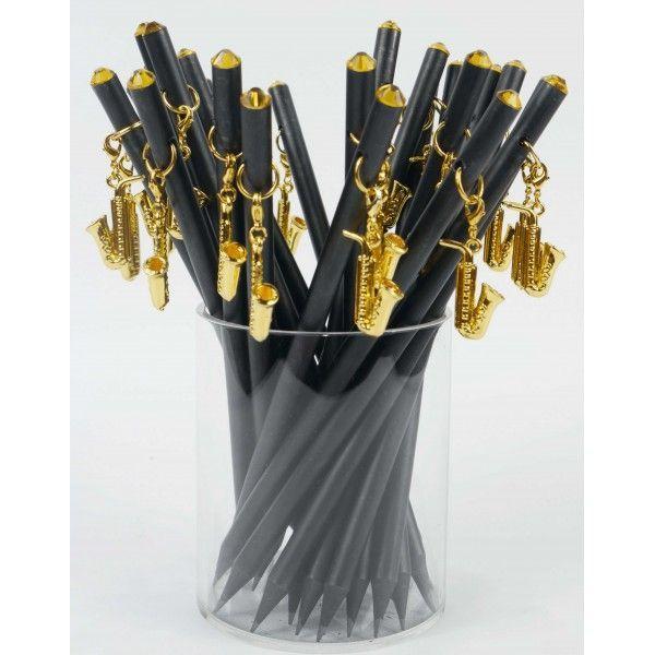 Bleistift mit Saxophon-Anhänger ideal als Geschenk