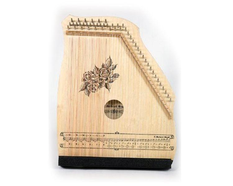 Hopf Akkordzither 100/3 natur 6 Akkorde, 25 Melodiesaiten, Zither Holz Natur