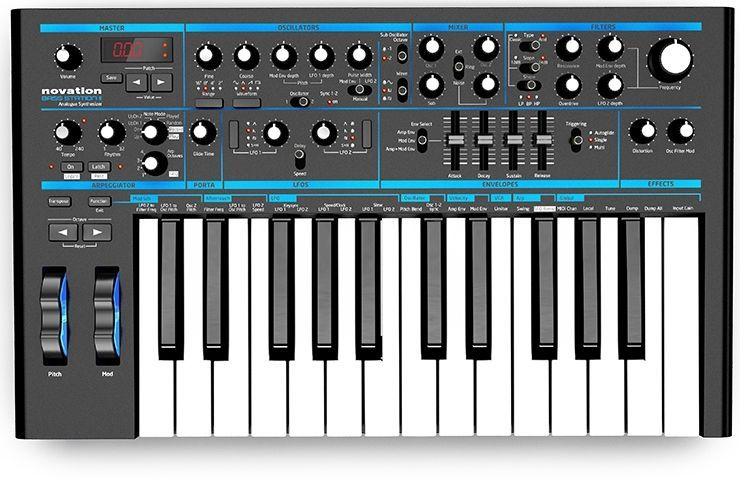 Novation Basstation II Synthesizer mit analoger Klangerzeugung und 25 Tasten