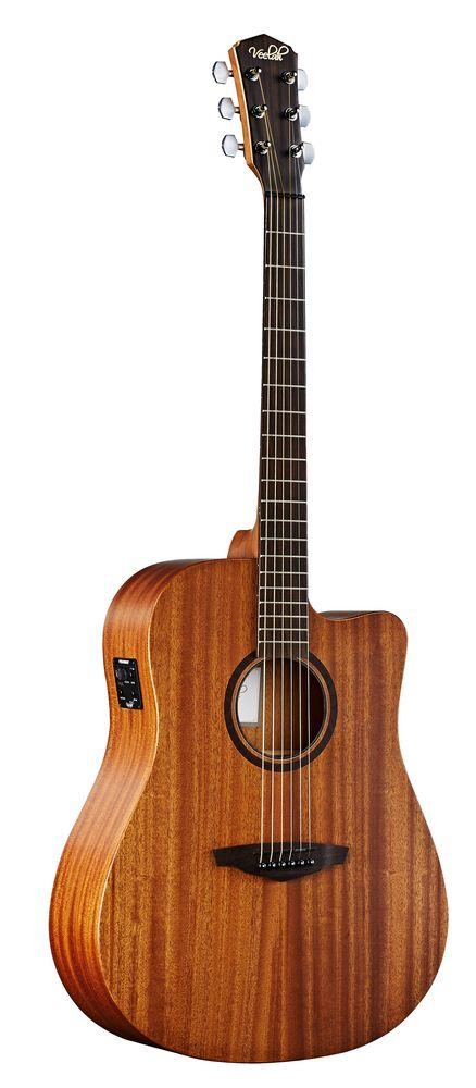 Veelah V1 DMCE   Akustikgitarre, massive Mahagonidecke  Pickup