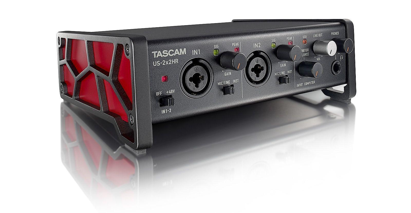 Tascam US-2x2HR USB Audio Interface 2-Kanal mit 2 Mikrofon-/Line-Eingängen