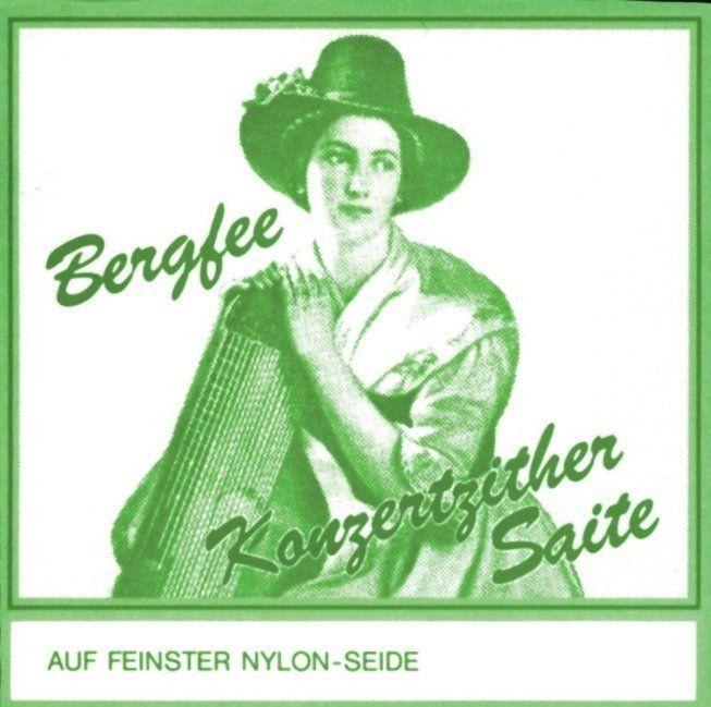 Zithersaiten Bergfee Satz 1321-MS36 36-saitig, grüne Serie, Harfenzither