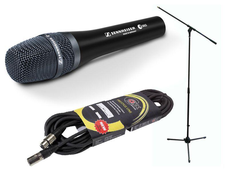 Sennheiser e965 Mikrofon-SET inkl. Mikrofonstativ + 10m Mikrofonkabel