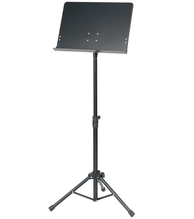 Orchesterpult Notenpult Metall MBL, Vollblech-Notenauflage, 65-125cm Höhe