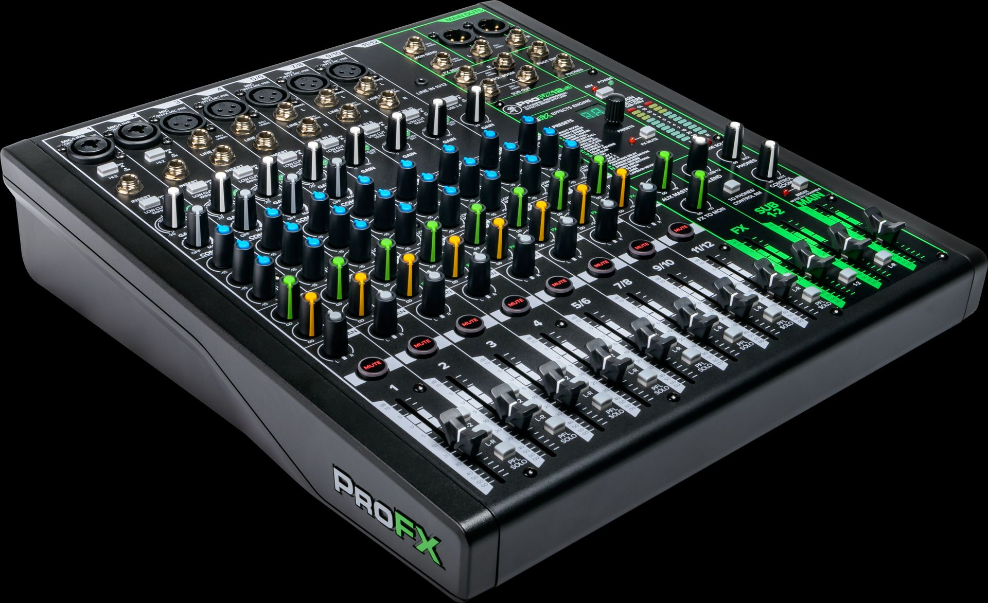 Mackie ProFX12v3 Mischpult 12-Kanal Mixer inkl. Effektgerät, USB-Anschluss