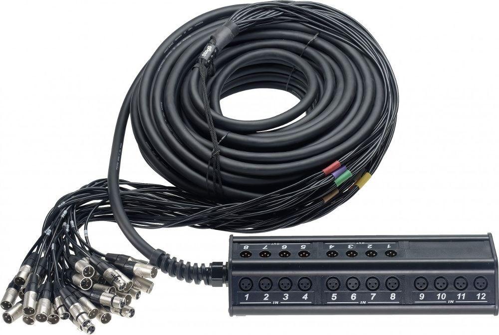 Mark Audio 248/30  Multicore 24/8 Länge: 30,0 m mit Original REAN Stecker