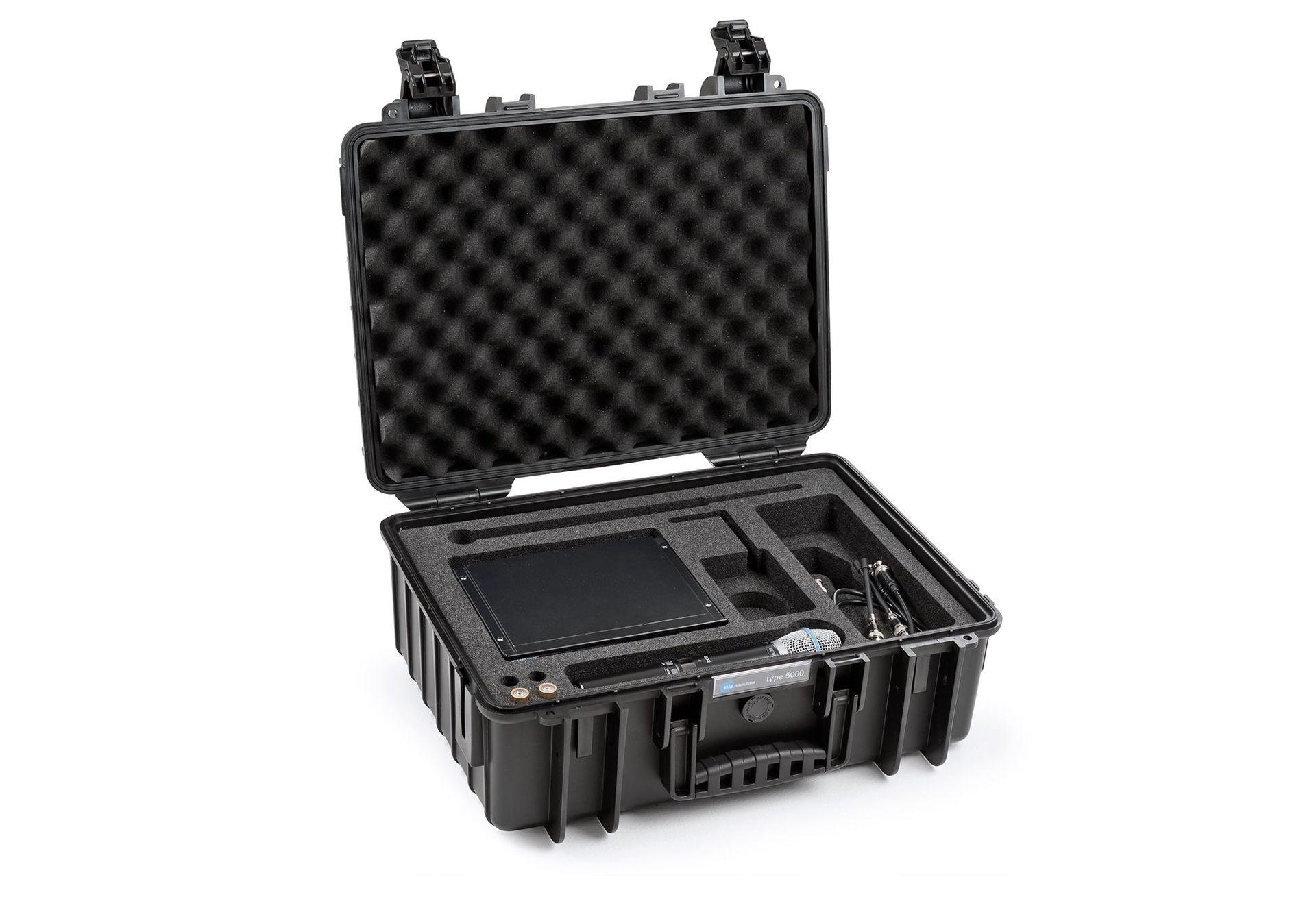 B&W Outdoor Case 5000 für div. Shuresysteme,schlagfester Koffer aus Polypropylen