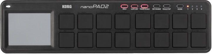 KORG NanoPad 2  black Midi Controller Nanopad